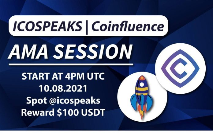 coinfluence ama at ico speaks