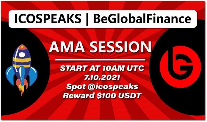BeGlobalFinance ama at ico speaks